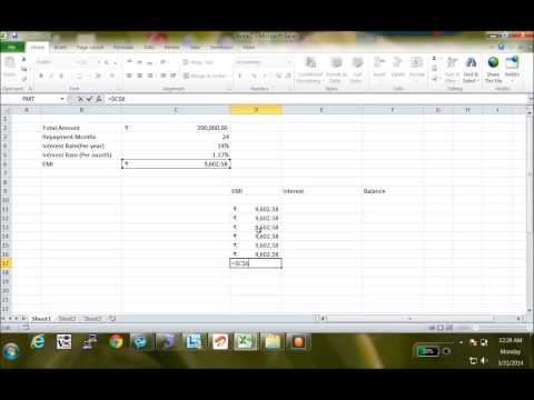 How to generate loan repayment schedule in Excel