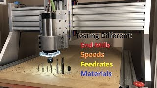Homemade CNC Router - Test Cuts- on different materials
