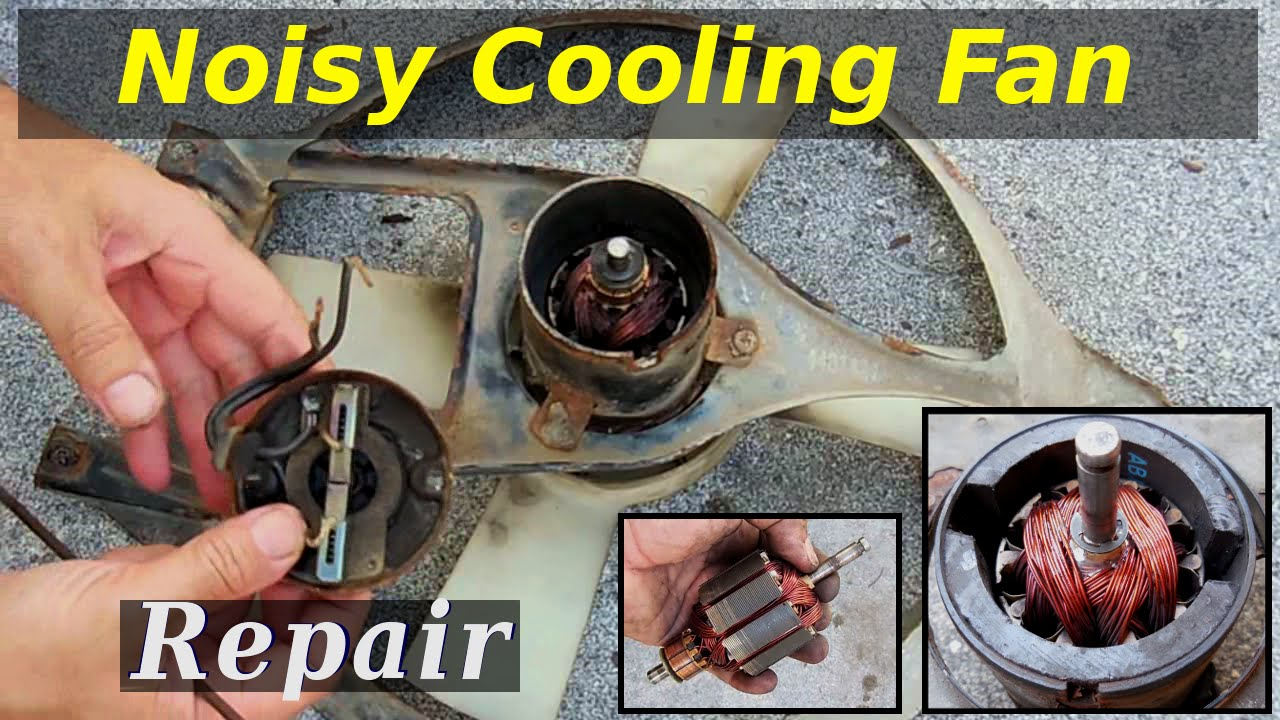Radiator cooling fan bearing repair youtube for Bobcat blower motor replacement