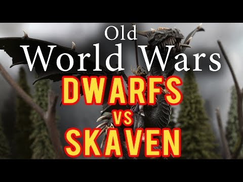 Dwarfs vs Skaven Warhammer Fantasy Battle Report - Old World Wars Ep 253