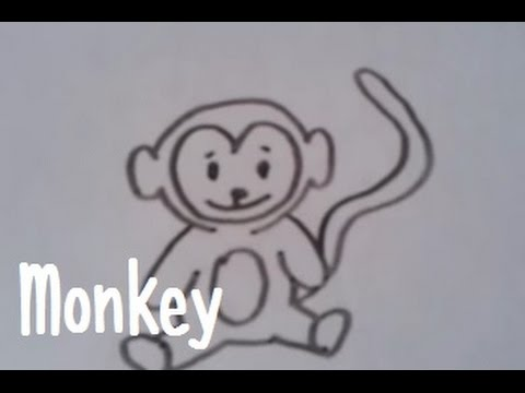 Dessiner un singe version 2 youtube - Singe a dessiner ...