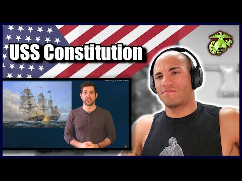 Marine Reacts To The USS Constitution (vs. HMS Guerriere)