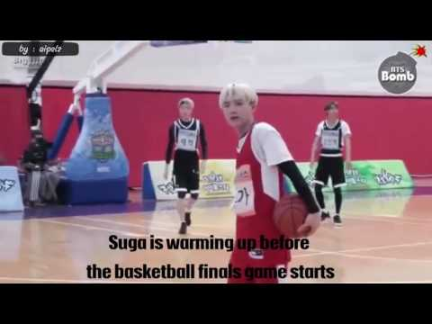 Bts min suga play basketball
