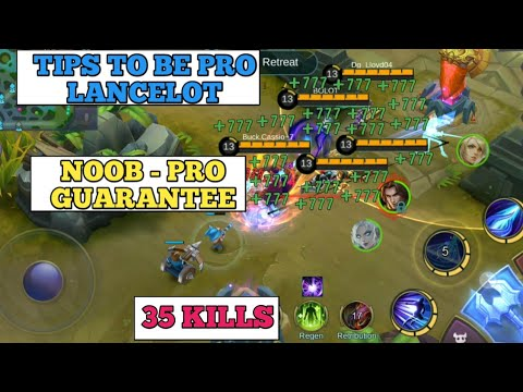TIPS TO BE PRO LANCELOT   MOST IMPORTANT TIPS   MOBILE LEGENDS