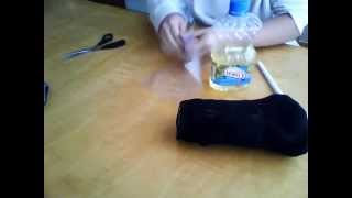 How to Make a Pocket Pussy Out of 5-7 Socks, zip lock bag, and lube