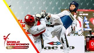 Taoyuan 2018 World Taekwondo GP-Final [female –49kg] Panipak WONGPATTANAKIT(THA) vs So-Hui KIM(KOR)