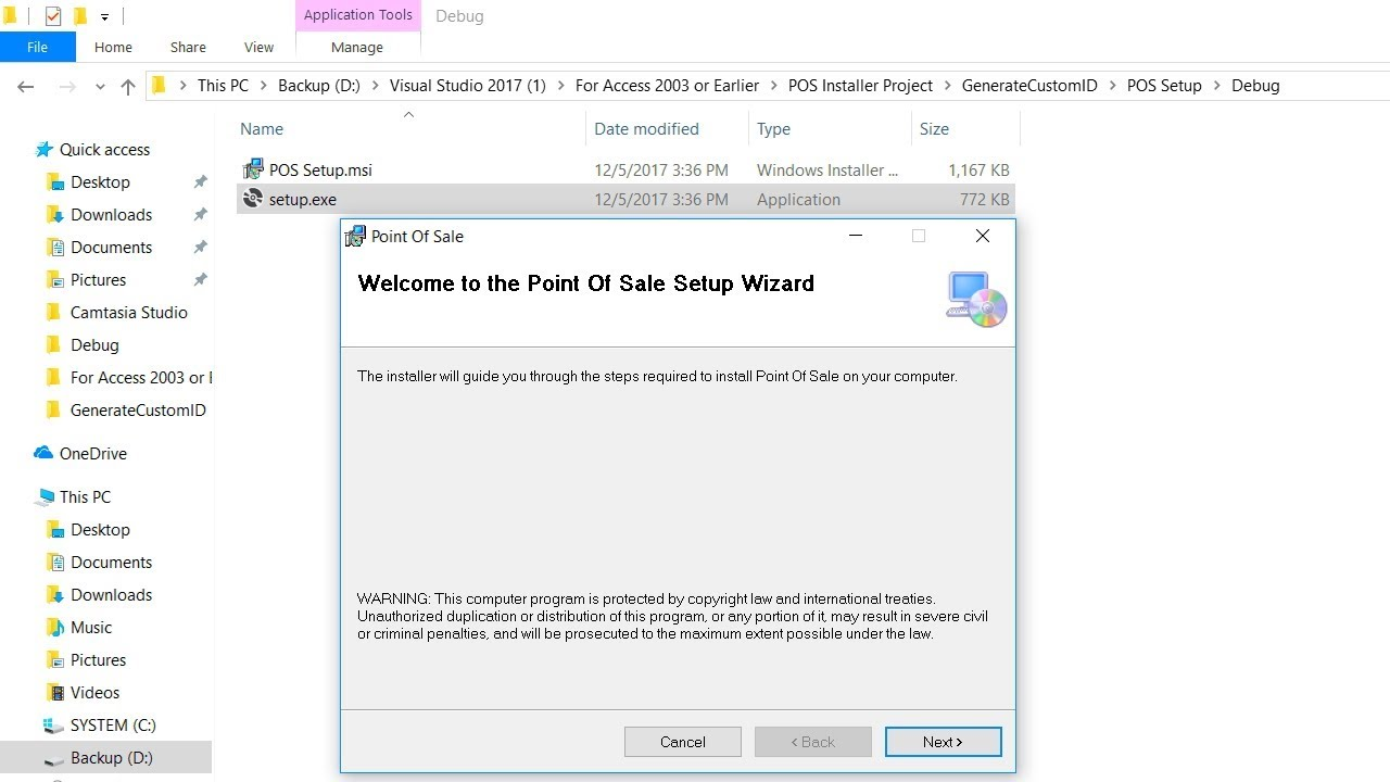 how to create setup exe file in visual studio 2012