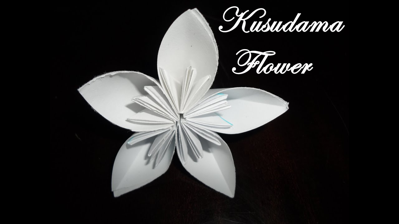 origami fleur kusudama tutorial youtube. Black Bedroom Furniture Sets. Home Design Ideas