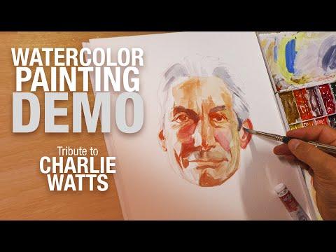 🎨👄 Demo Aquarelle - Hommage à Charlie Watts