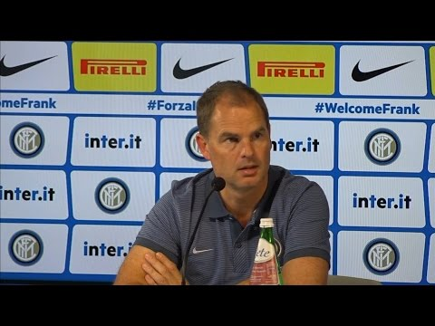 Frank De Boer Takes On 'Difficult' Job At Inter Milan