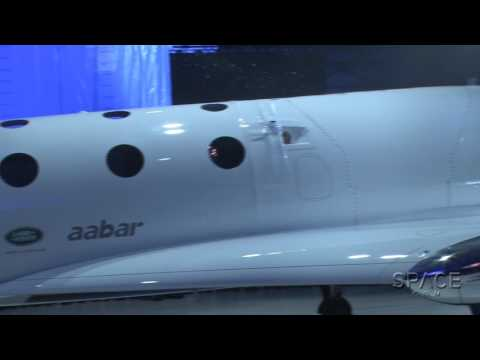 Sir Richard Branson Rolls Out New SpaceShipTwo 'Unity'   Raw Video