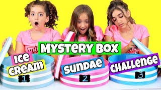 Mystery Box Ice Cream Sundae Challenge!