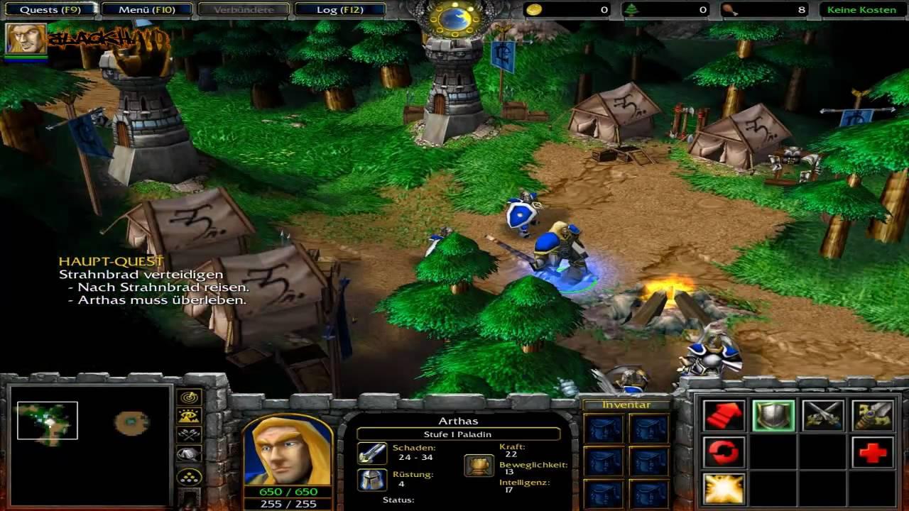 Let's Play Warcraft 3 - Menschenkampagne (German) #01