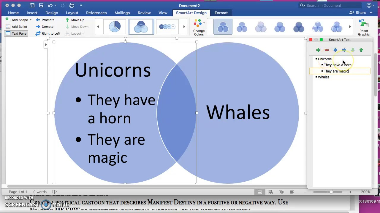how to make a venn diagram on ms word podcast