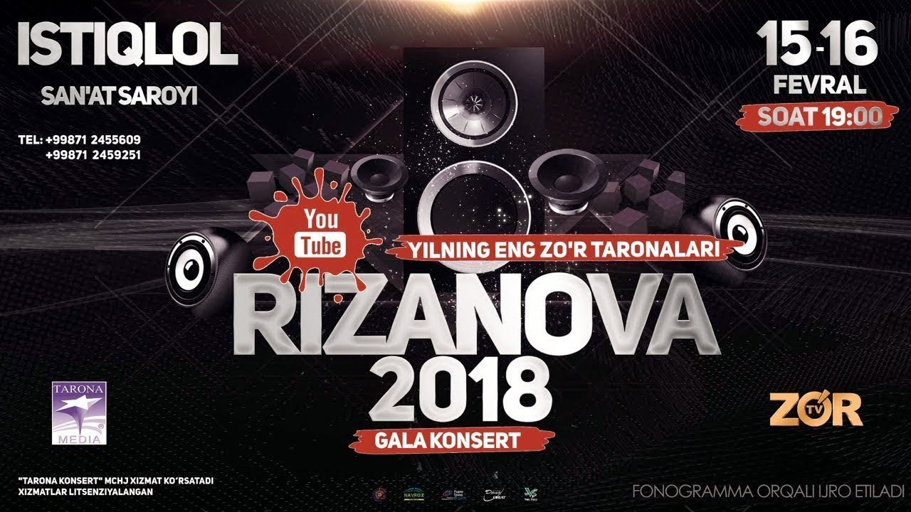 RizaNova 2018 gala konserti | РизаНова 2018 гала концерти (15-16 fevral 2018) #UydaQoling