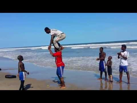 Ghana Got Talent - acrobatics group (Labardi Beach party 2015)