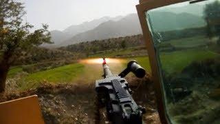 RPG Hits In Front of Convoy During Ambush - Taliban Firing Position Visible