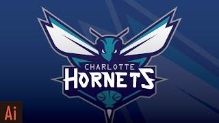 Create Mascot Logo: Part 1 (the Hornets) | Illustrator Tutorial