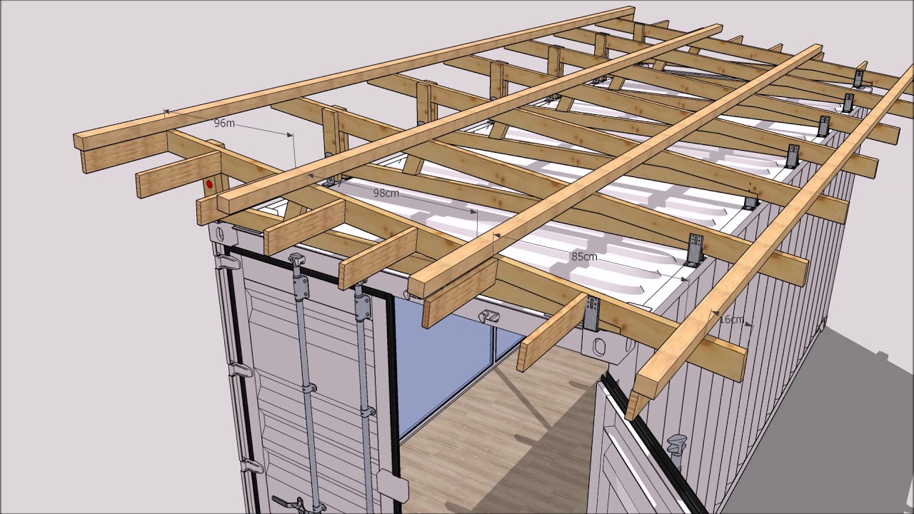 Idee Amenagement Maison Bois Roof Kit For Shipping Container