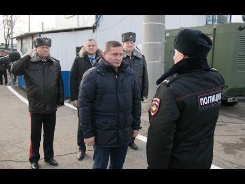 Андрей Бочаров совместно с руководителями силовых ведомств побывал на Чапурниковском посту ДПС