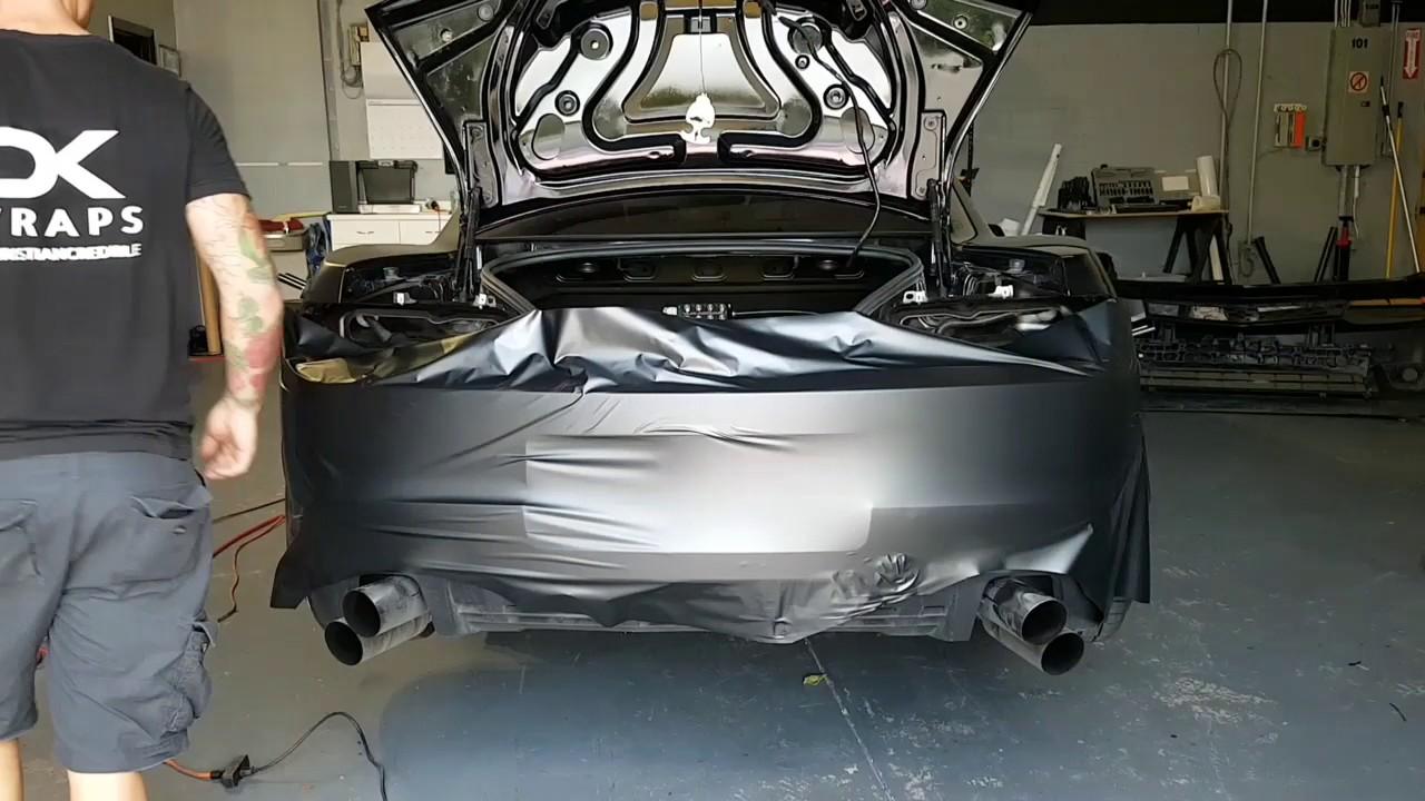 45 Minutes Camaro Rear Bumper Vinyl Wrap How To Vinyl