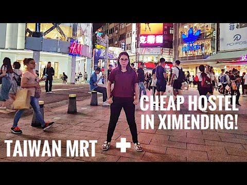 Taiwan MRT + CHEAPEST Hostel In Ximending!