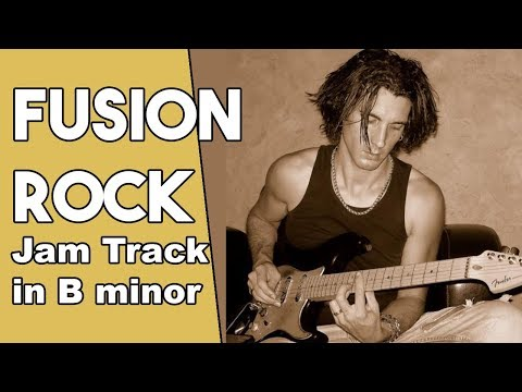 Fusion Rock Guitar Backing track Jam in Bm