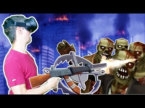 OVER POWERED DOUBLE BEAR TRAP BAYONET RIFLE VR STYLE! - Undead Development HTC VIVE Gameplay