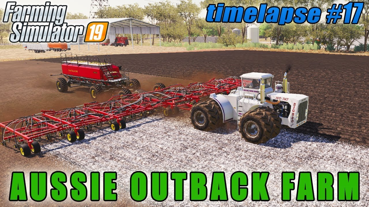 Sowing With Big Bud Tractor And Air Seeder Fs 19 Aussie Outback Farm Timelapse 17 Youtube