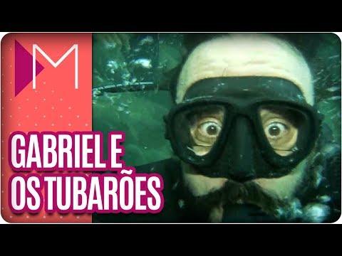 Gabriel, o Pensador mergulha com tubarão - Mulheres (30/03/18)