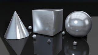 Cinema 4D R18 Silver Brush Material | Cinema 4D R18 Chrome Material