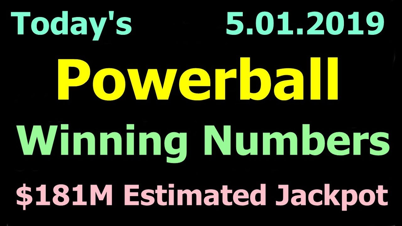Today Powerball Winning Numbers 1 May 2019 Powerball Drawing