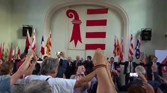 Carles Puigdemont à la Fête du peuple jurassien à Delémont.