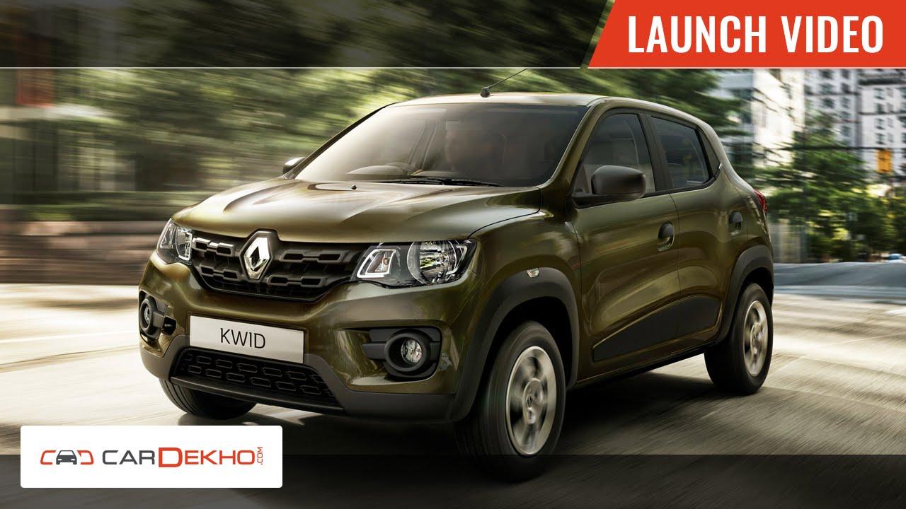 Renault Kwid Unveil Video Cardekhocom Youtube