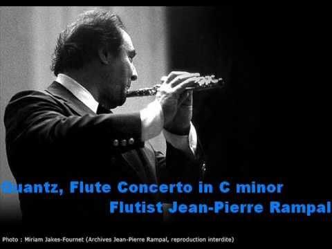 Quantz, Flute Concerto in C minor. Flautista Jean-Pierre Rampal