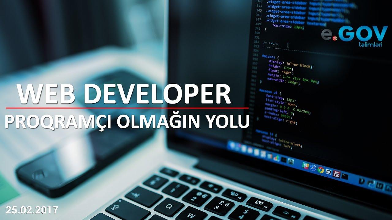 """""""Web Developer"""" – proqramçı olmağın yolu"""" - Ödənişsiz Seminar (25.02.2017)"""