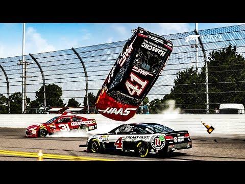 Backstretch Flipping!! | Forza Motorsport 6 | NASCAR Expansion