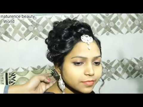 Easy bridal hairstyle with accessories 2017 (Hindi )