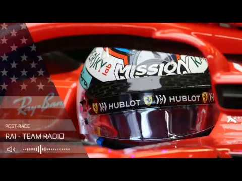 Kimi Raikkonen's post-race team radio United States GP & Sebastian Vettel's radio