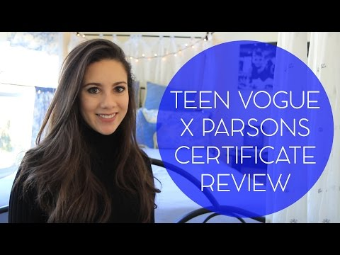 Teen Vogue x Parsons Certificate Program Review