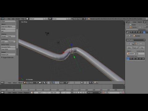 Blender Tips: Making Wire/Vine/Rope Basics - YouTube