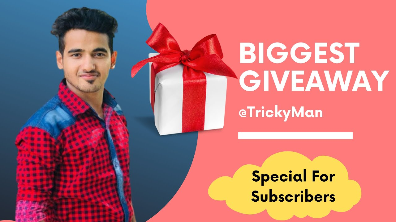 Giveaway Aaya, Free Gift Laya | Our Biggest Giveaway For Subscribers on Tricky Man #FreeCourses