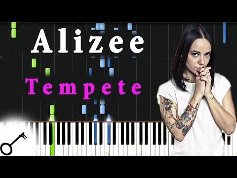 Alizee - Tempete [Piano Tutorial] Synthesia | Passkeypiano