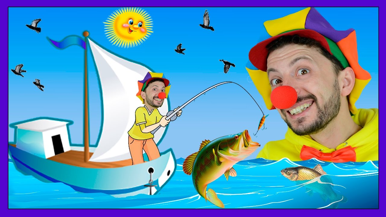 Fish for kids clown bob entertaining video for kids for Fish cartoon movie