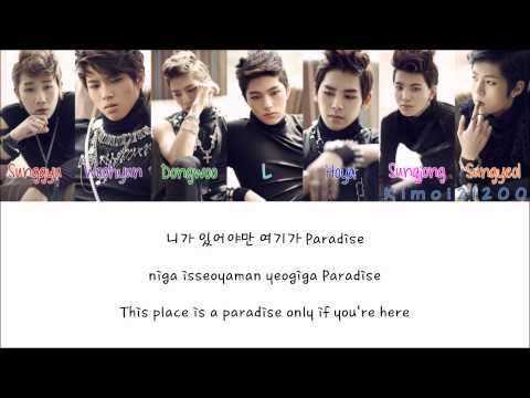 Infinite - Paradise [Hangul/Romanization/English] Color & Picture Coded HD