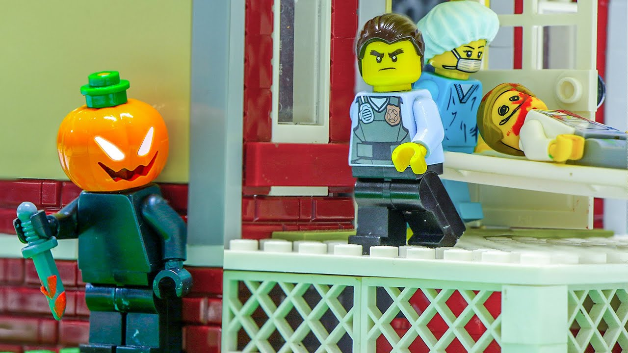 LEGO Land | Halloween Night Case: Pumpkin Killer Attack Lego Police | Lego Stop Motion