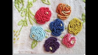 hand embroidery Brazilian flower stitch embroidery designs