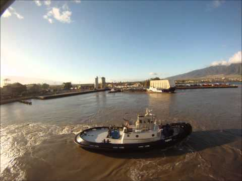 NCL time lapse maui starboard Docking