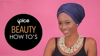 Easy To Tie Turban  SPICE Beauty How To39s