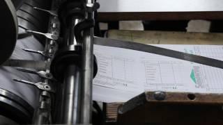 Hamburger Kassenblockfabrik - Auslage Rotationsmaschine